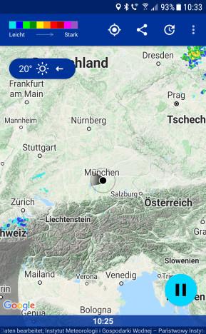 Regen-Alarm (Android-App)