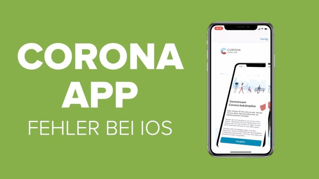 Corona App Fehlermeldung