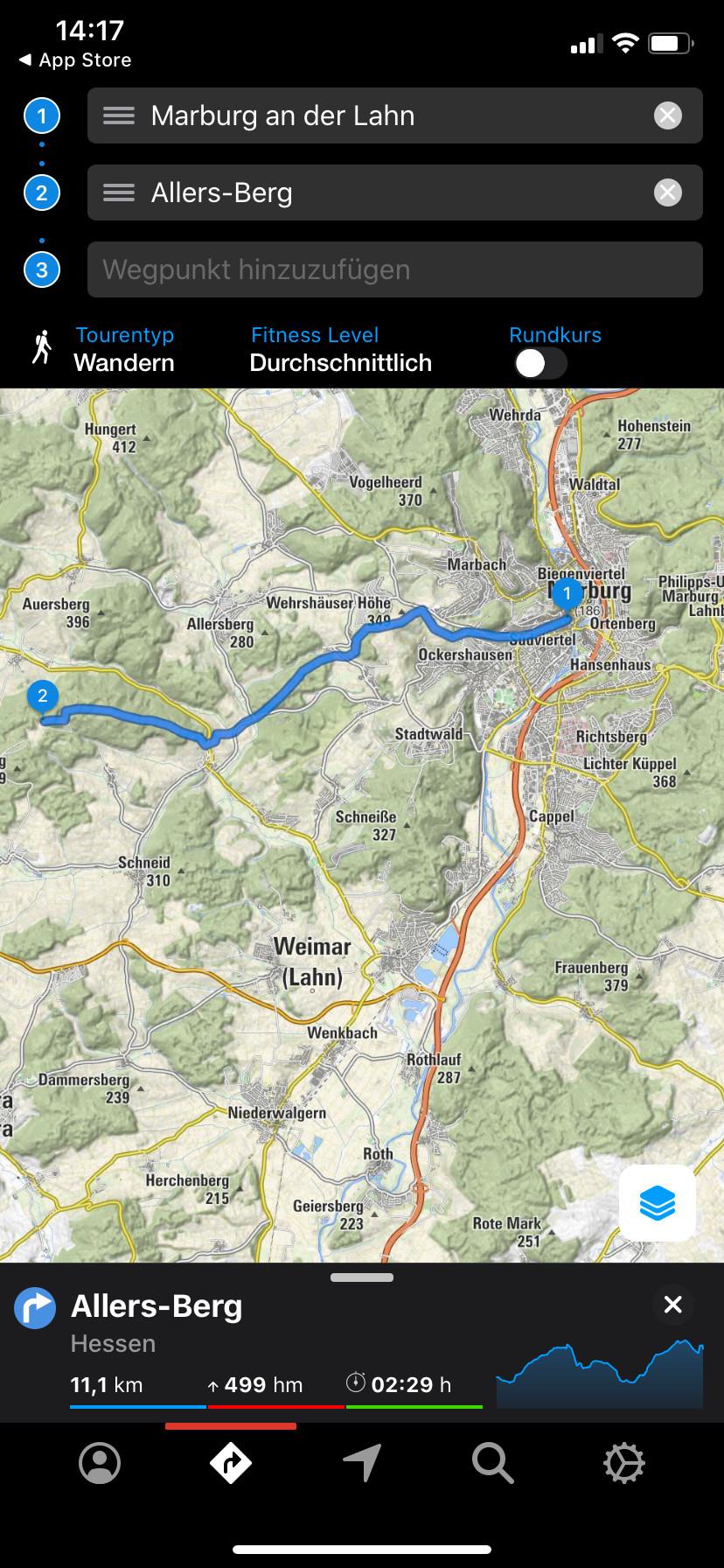 Screenshot 1 - Bergfex Touren & GPS-Tracking: Navi zum Wandern, Radfahren & Laufen (App für iPhone & iPad)