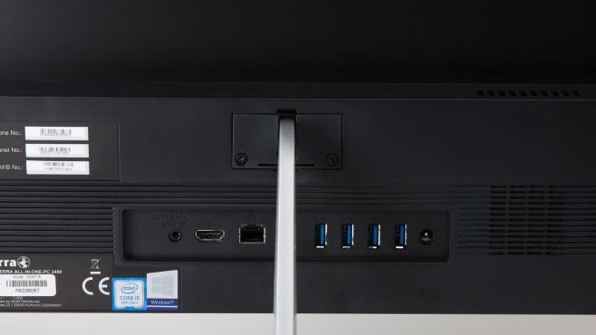 Die Anschlüsse des Wortmann Terra All-in-one-PC 2400 in der Nahaufnahme.©COMPUTER BILD