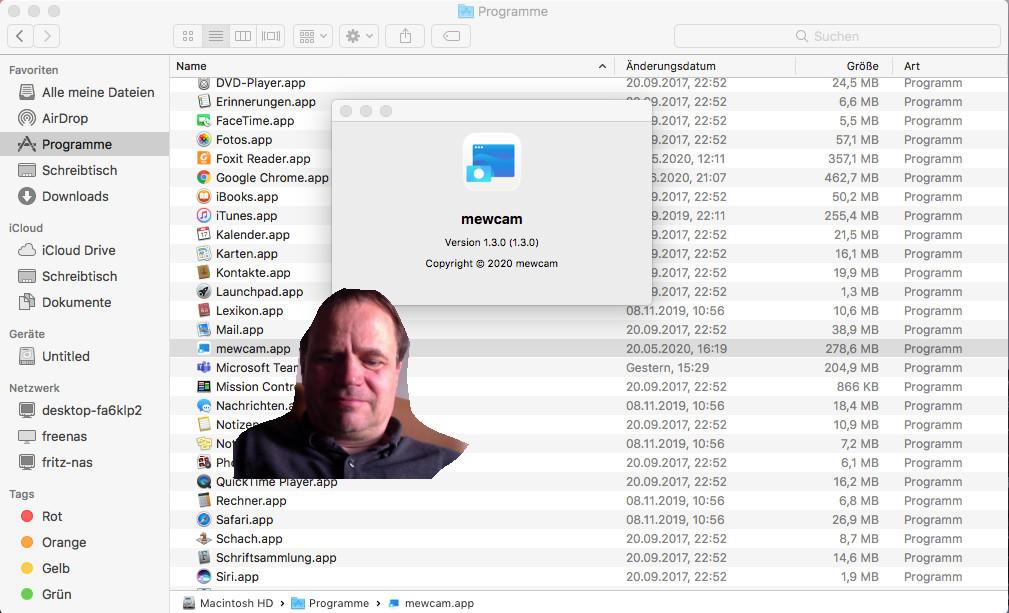 Screenshot 1 - Mewcam (Mac)