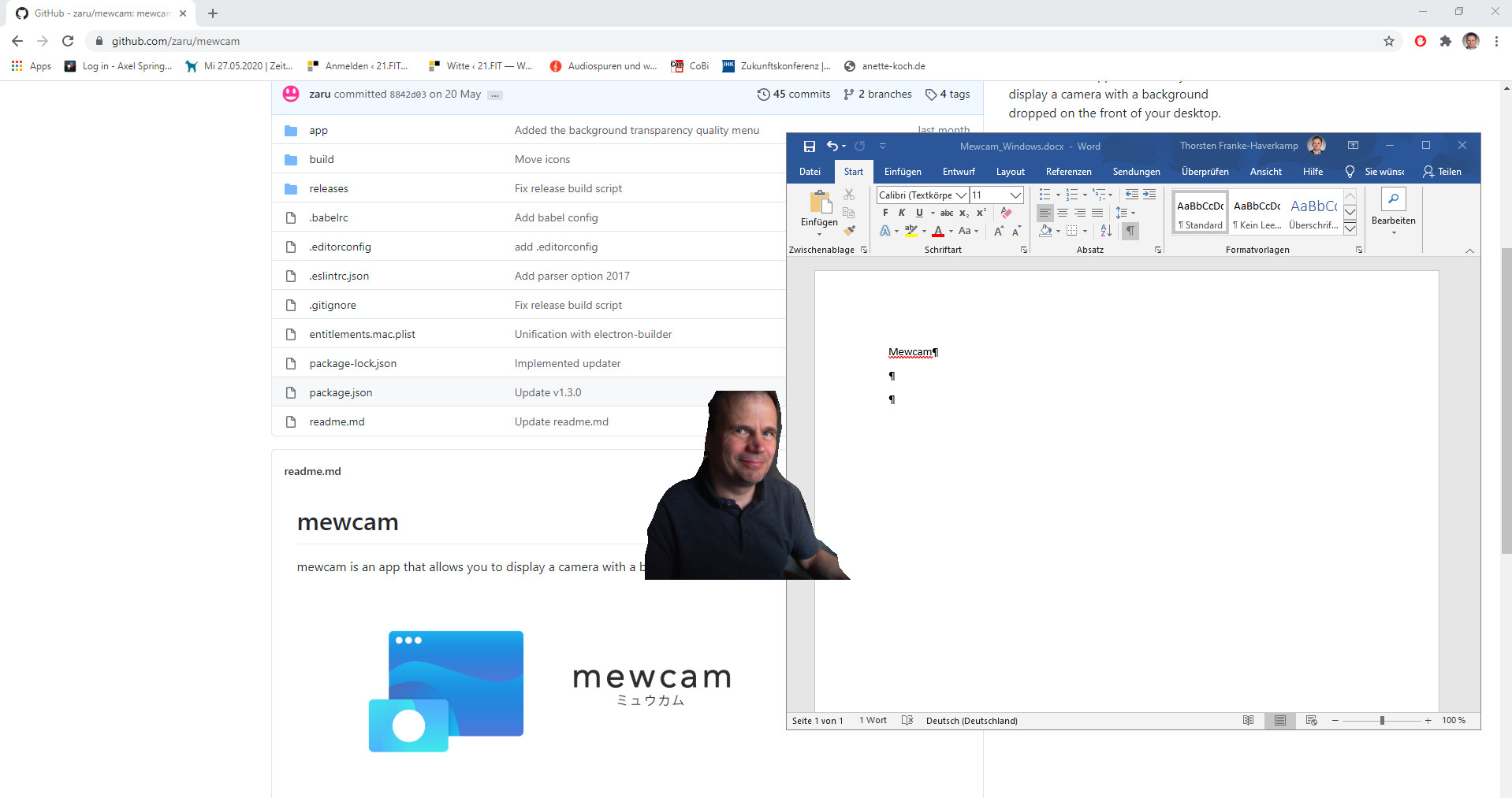 Screenshot 1 - Mewcam
