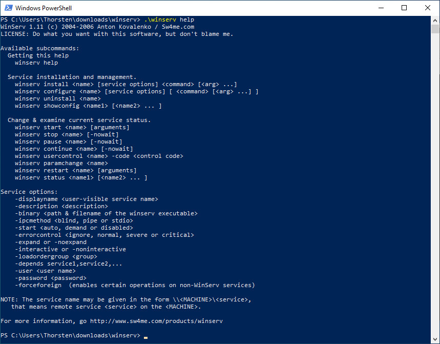 Screenshot 1 - Winserv