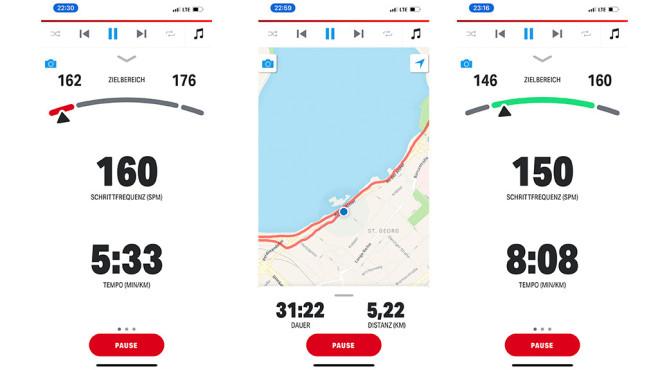 Under Armour Hovr Machina - Map My Run: Infos beim Laufen©COMPUTER BILD