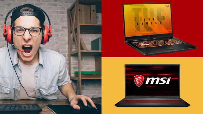 Asus TUF A17 vs. MSI GF75: Test der Gaming-Notebooks © COMPUTER BILD, Asus, MSI, AlexShutter - stock.adobe.com