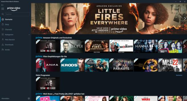 Amazon Prime Video für Windows 10©Amazon