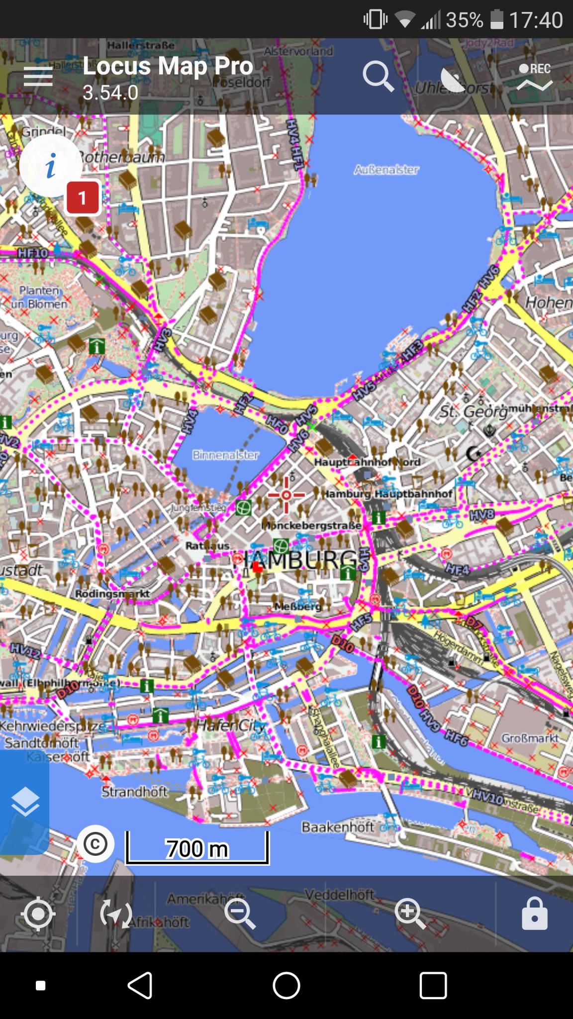 Screenshot 1 - Locus Map Pro (APK) – Kostenlose Vollversion für 1 Jahr
