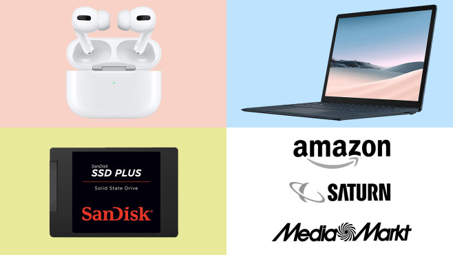 Amazon, Media Markt, Saturn: Die Top-Deals des Tages! © Amazon, Saturn, Media Markt, Apple, Microsoft, SanDisk