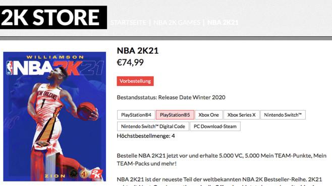 NBA 2K21©2K Games