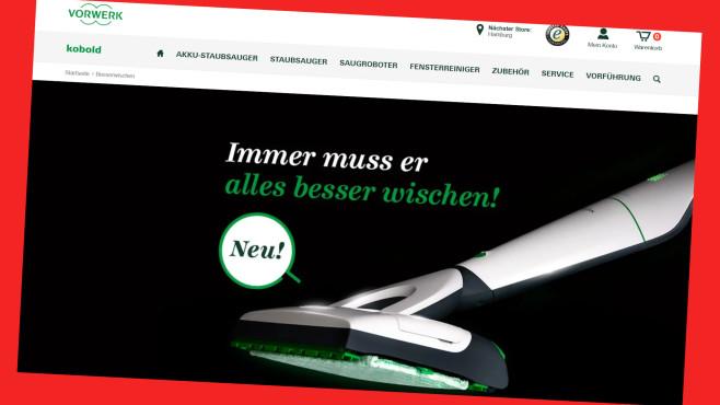 Online-Rabatt für Vorwerk Akku-Staubsauger VB100©https://kobold.vorwerk.de/Screenshot