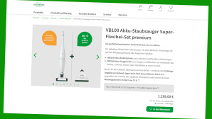 Vorwerks Akku-Staubsauger inklusive Premium-Zugebör gibt es aktuell als günstiges Angebot.©Screenshot Vorwerk.com