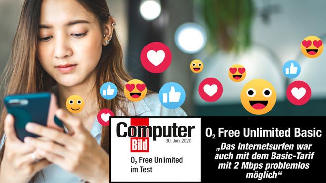 o2 jetzt mit drei Tarifen ohne Datenlimit Unlimited Basic eignet sich, wenn Sie hauptsächlich im Web surfen und Social Media nutzen©iStock