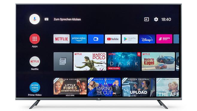 Xiaomi Mi TV 4S im Test: Zum Zappen nicht geeignet Xiaomi Mi TV 4S im Test: Das Betriebssystem Android 9 läuft rund und zügig. Schade nur, dass sich keine TV-Sender oder Mediatheken auf dem Startbildschirm platzieren lassen.©Xiaomi, COMPUTER BILD