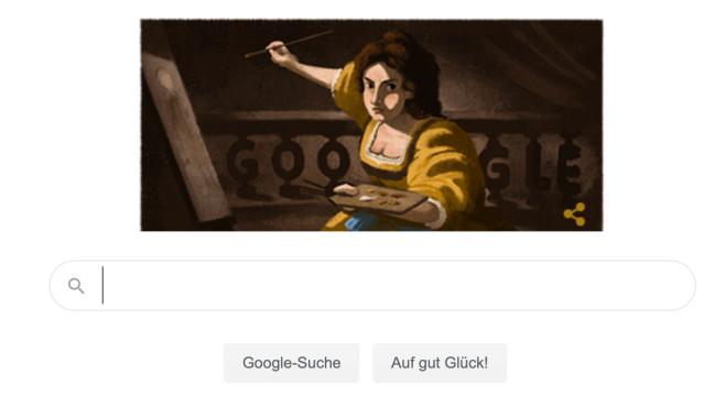 Google Doodle: Artemisia Gentileschi©Google