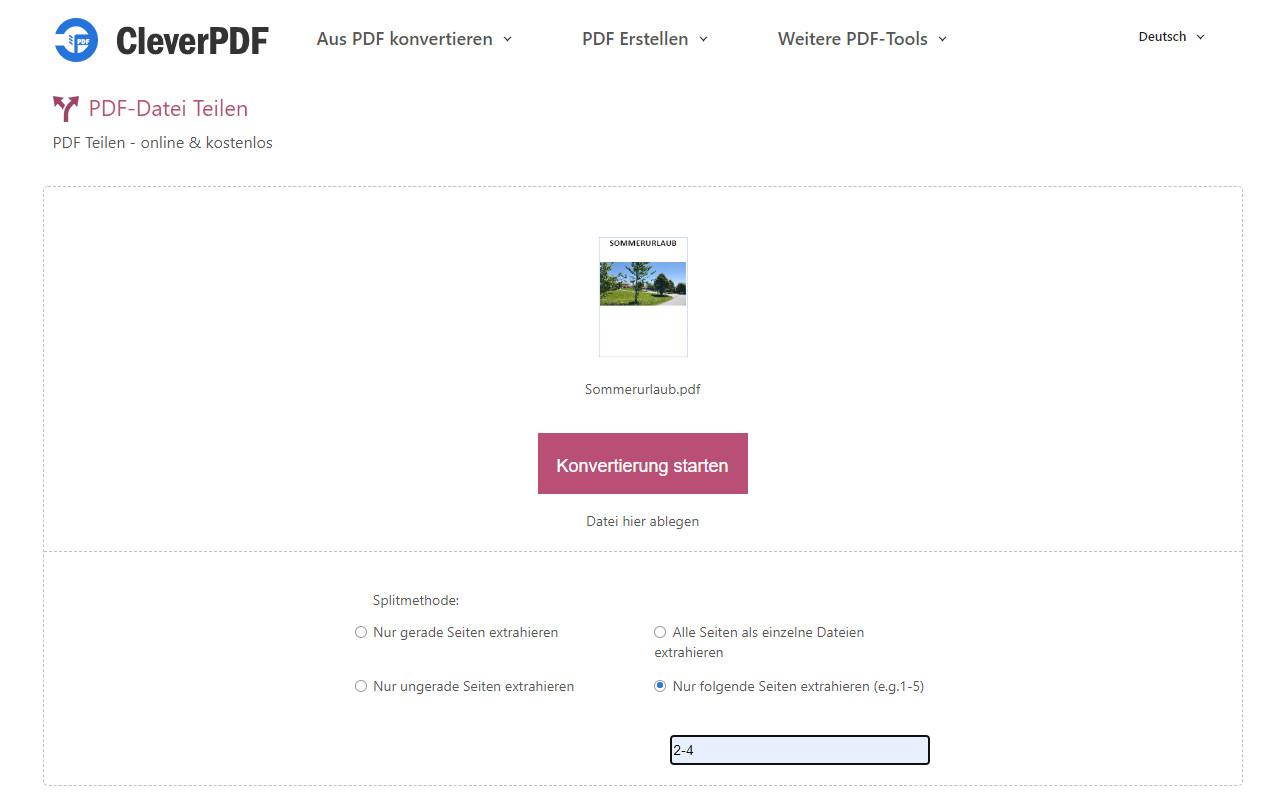 Screenshot 1 - PDF-Datei teilen