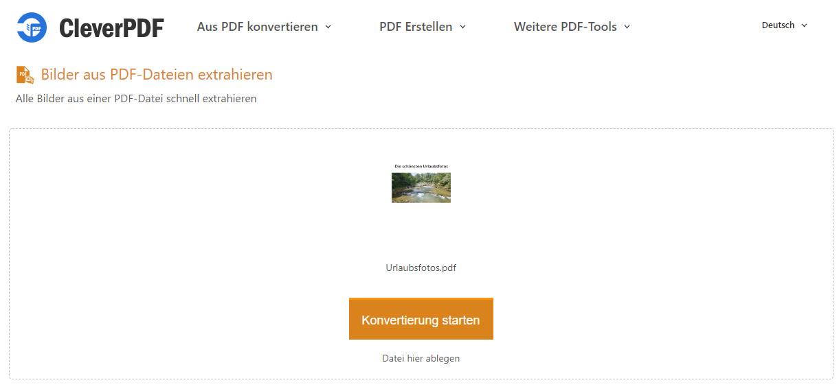 Screenshot 1 - Bilder aus PDF-Dateien extrahieren