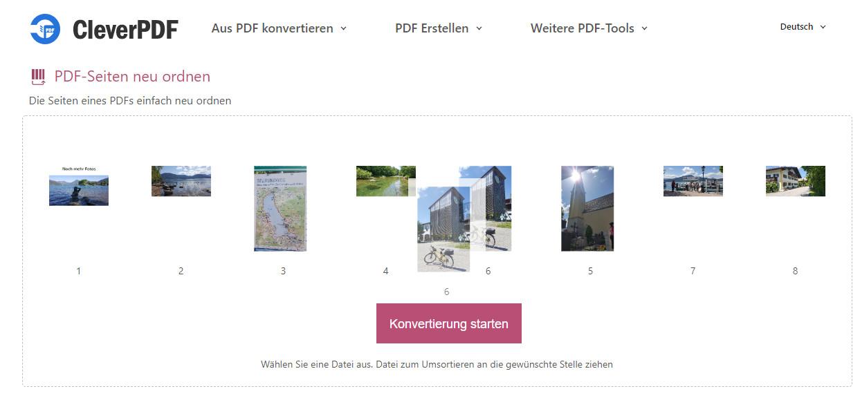 Screenshot 1 - PDF-Seiten neu ordnen