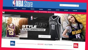 NBA Store: Bis zu 40 Prozent sparen im Online-Sale©Screenshot www.nbastore.eu