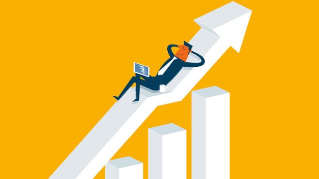 Aktien mit Zukunft: So investieren Sie clever Ganz ruhig bleiben: Wenn es an der Börse aufwärts geht, ist das leicht. Mit krisensicheren Aktien gelingt das auch in Abschwungphasen.©iStock.com/sorbetto