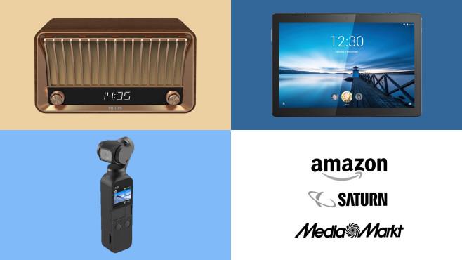 Amazon, Media Markt, Saturn: Die Top-Deals des Tages!©Amazon, Media Markt, Saturn, Philips, Lenovo, DJI