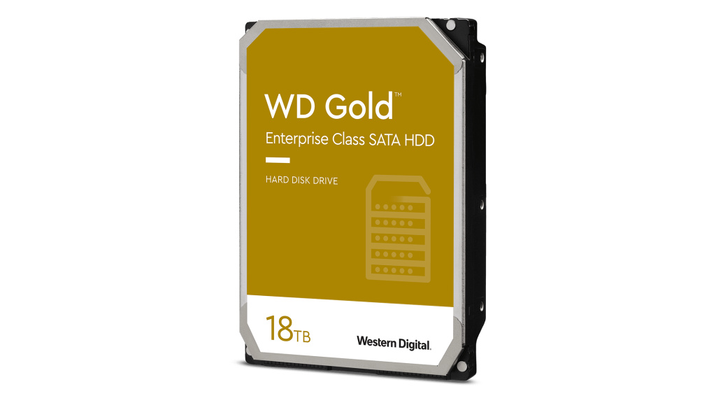 WD Gold: 18-Terabyte-Festplatte ab sofort erhältlich