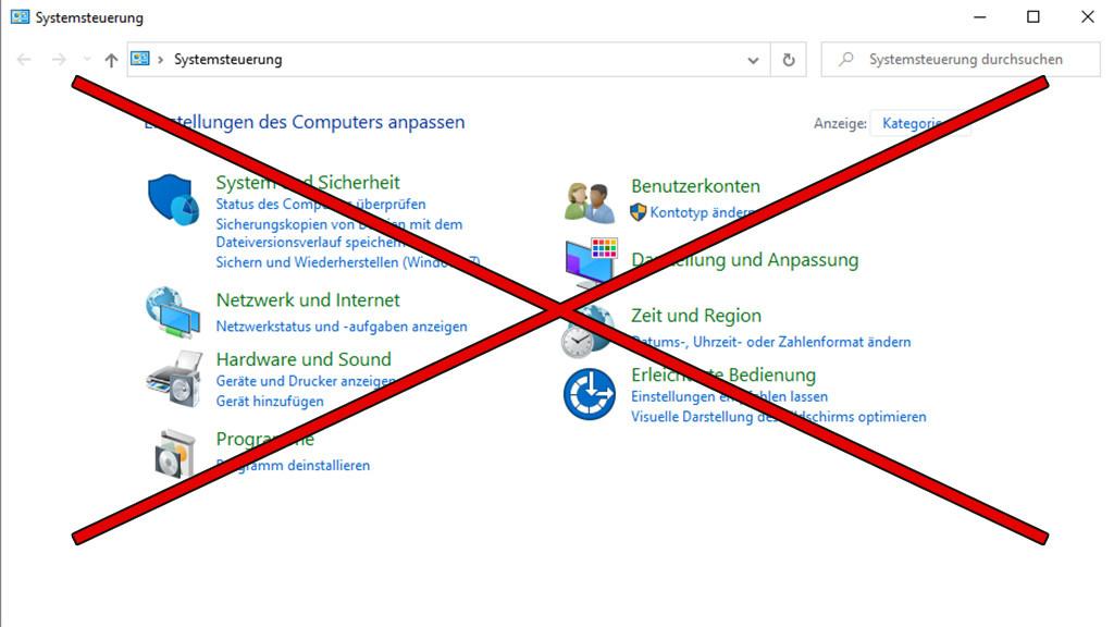 Windows 10: Microsoft trägt Systemsteuerung zu Grabe