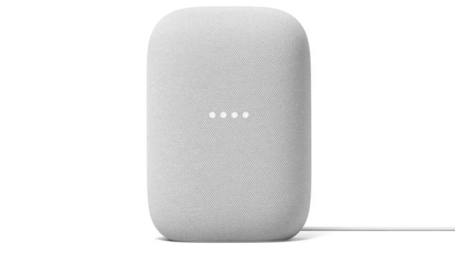 Nest Audio vor weißem Hintergrund.©Google LLC
