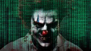 Joker-Gesicht hinter Programmiercode©iStock.com/redhumv, iStock.com/Christian Horz