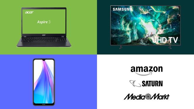 Amazon, Media Markt, Saturn: Die Top-Deals des Tages!©Amazon, Media Markt, Saturn, Samsung, Acer, Xiaomi