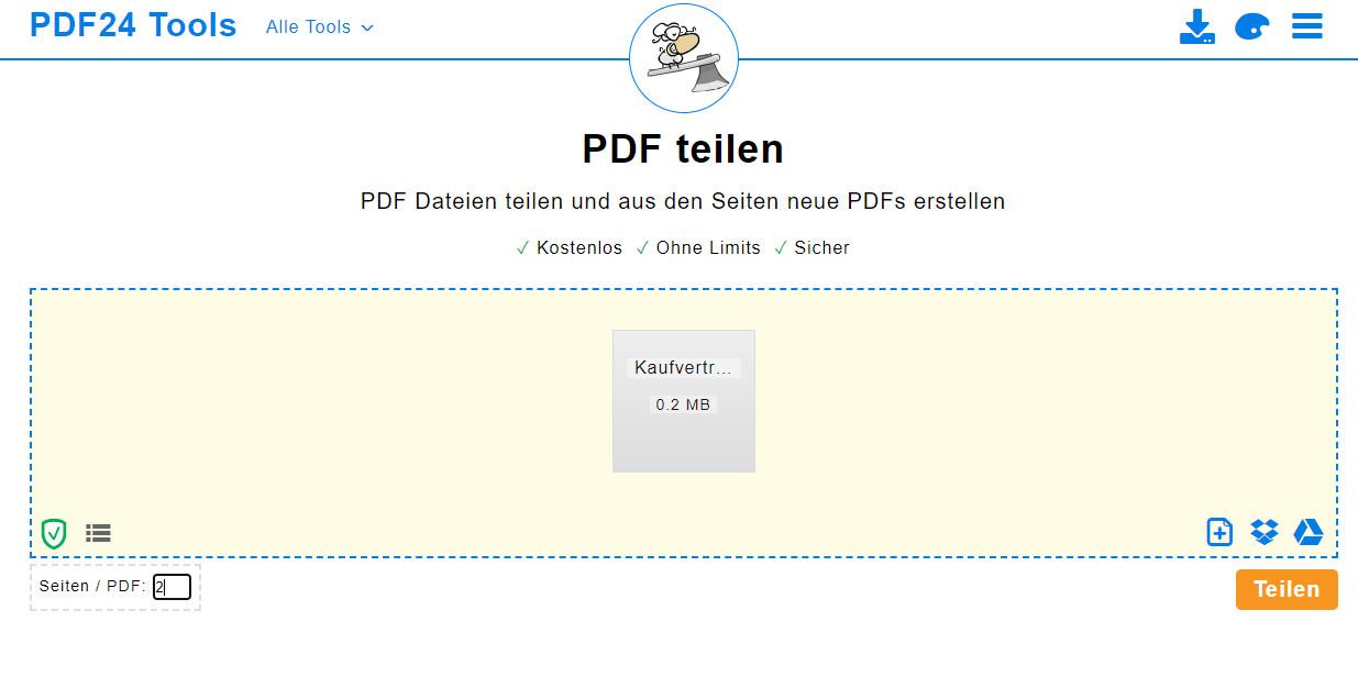 Screenshot 1 - PDF teilen