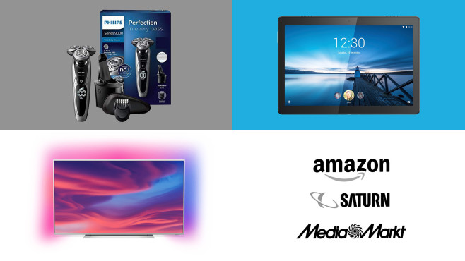 Amazon, Media Markt, Saturn: Die Top-Deals des Tages! © Amazon, Media Markt, Saturn, Philips, Lenovo
