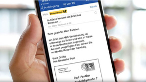 Deutsche Post: Briefank�ndigung © Deutsche Post