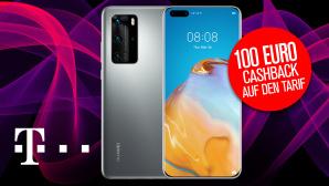 Telekom-Aktion mit Huawei P40 Pro 5G und 100 Euro Cashback©Telekom, iStock.com/Anna Bliokh