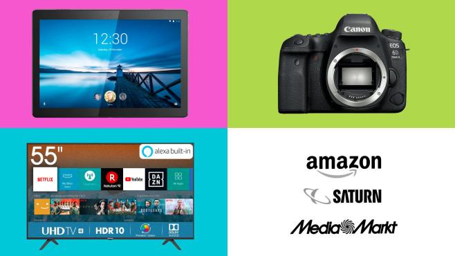 Amazon, Media Markt, Saturn: Die Top-Deals des Tages!©Amazon, Media Markt, Saturn, Lenovo, Canon, Hisense