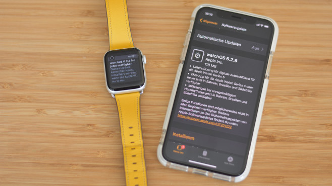 Apple watchOS 6.2.8 © COMPUTER BILD