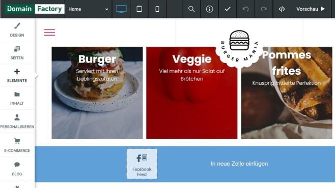 DomainFactory: Der Website-Baukasten in der Praxis©Computer Bild