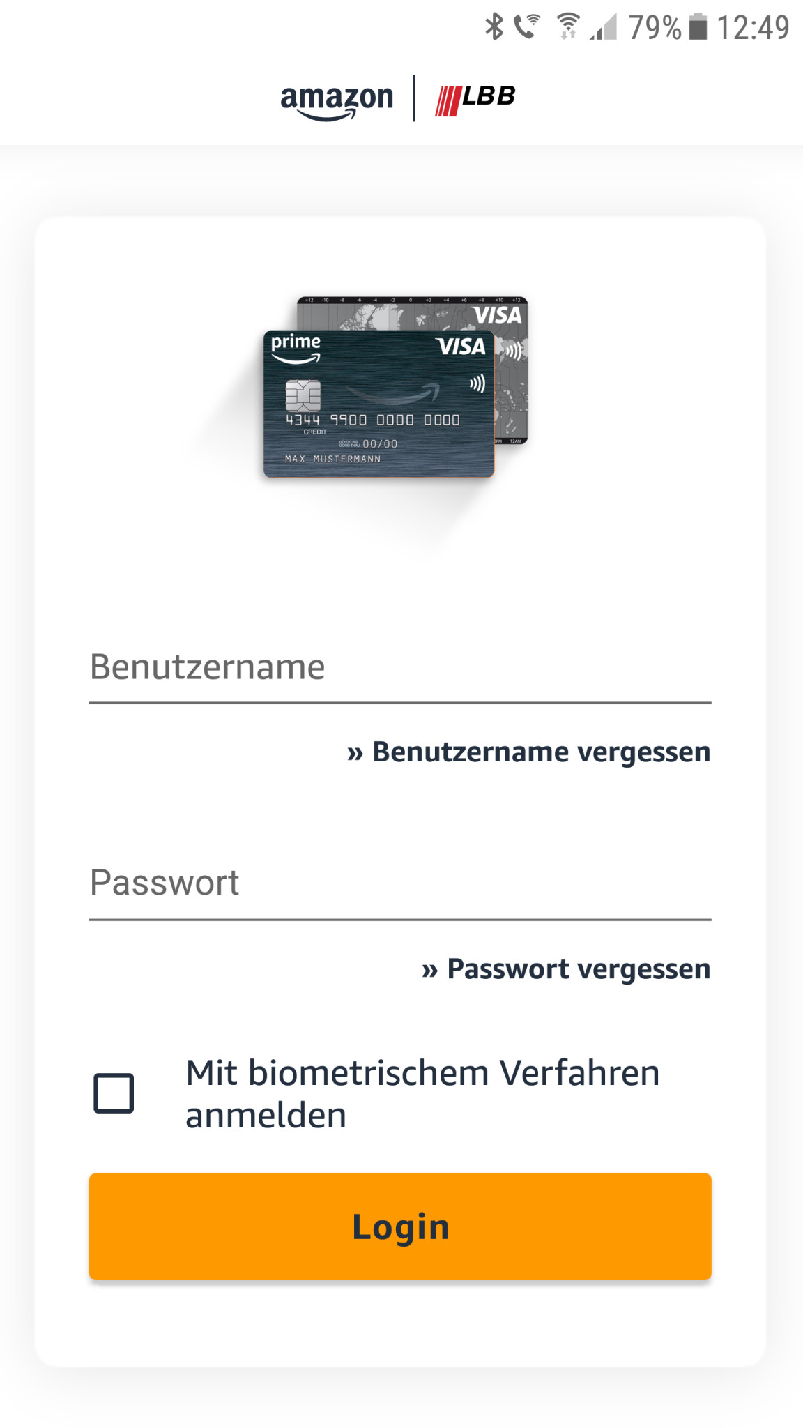 Screenshot 1 - Amazon.de Visa Karte (Android-App)
