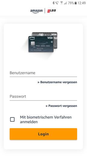 Amazon.de Visa Karte (Android-App)