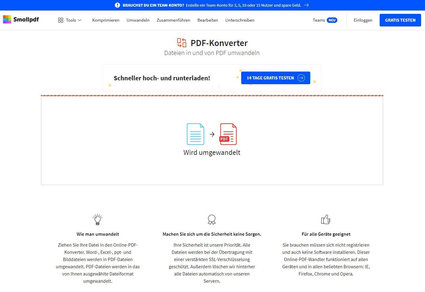 Screenshot 1 - PDF-Konverter