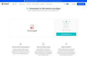 Seitenzahlen zu PDF hinzufügen