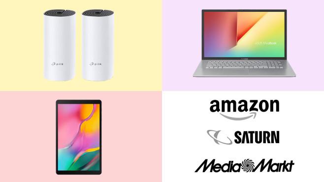Amazon, Media Markt, Saturn: Die Top-Deals des Tages!©Amazon, Saturn, Media Markt, TP-Link, ASUS, Samsung