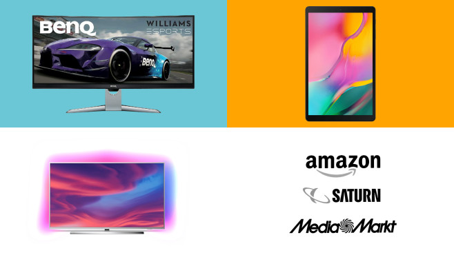 Amazon, Media Markt, Saturn: Die Top-Deals des Tages! © Amazon, Saturn, Media Markt, Samsung, BenQ, Philips