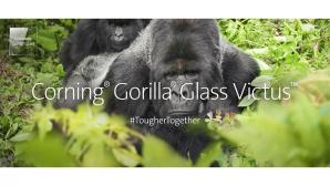 Werbebild mit Gorilla zu Corning Gorilla Glas Victus©Corning