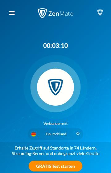 Screenshot 1 - ZenMate Free VPN für Microsoft Edge Chromium