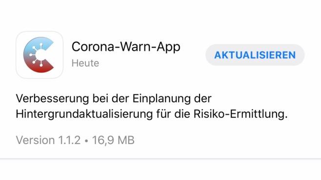Corona-Warn-App: Update auf 1.1.2©COMPUTER BILD