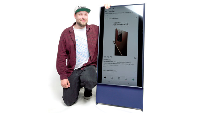 Samsung The Sero im Test: Ein witziges Gadget für Social-Media-Liebhaber.©COMPUTER BILD