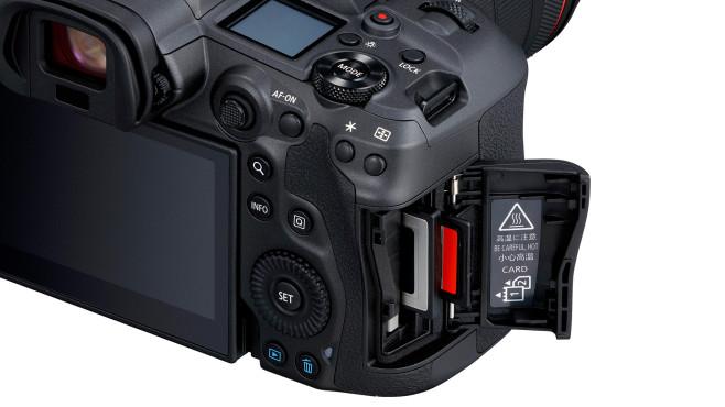 Canon EOS R5 Speicherkarten CFexpress und SD UHS-II©Canon