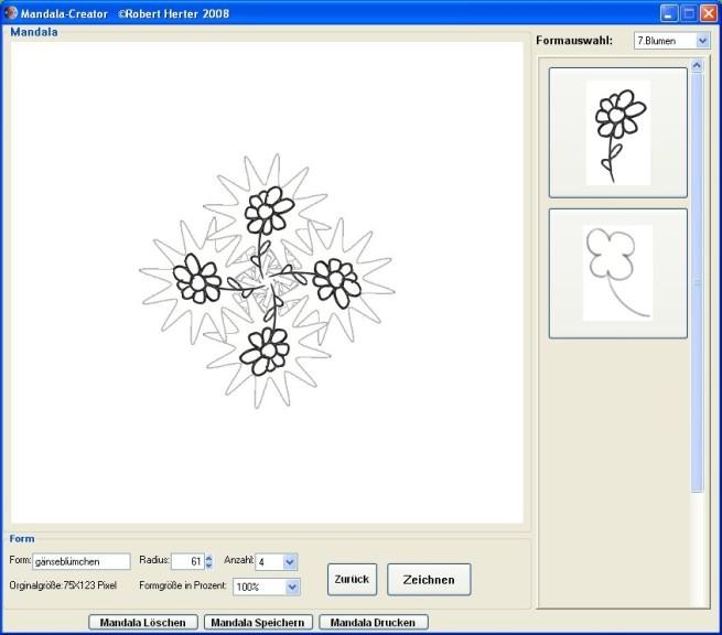 Screenshot 1 - Mandala-Creator