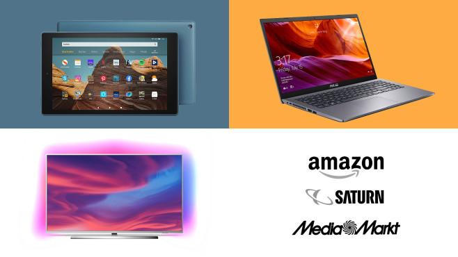 Amazon, Media Markt, Saturn: Die Top-Deals des Tages!©Saturn, Amazon, Media Markt, Asus, Philips