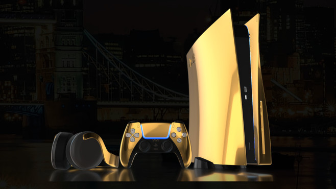 PlayStation 5 in Gold©Truly Exquisite
